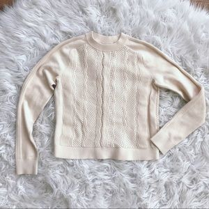 • Club Monaco • Cream Crew Neck Sweater XS